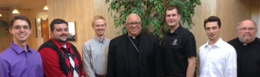 Bishop Murry with Youngstown Seminarians